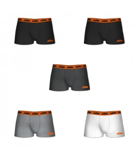 Pack of 5 men's cotton KTM White Boxers