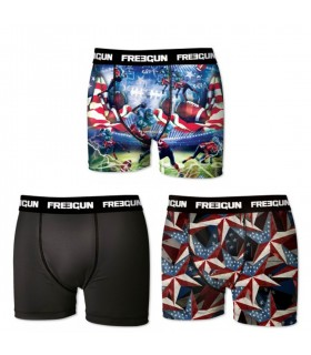 Lot de 3 boxers garçon Freegun USA Multicolore