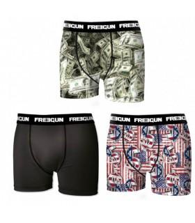 Lot de 3 boxers garçon Freegun Dollars Multicolore