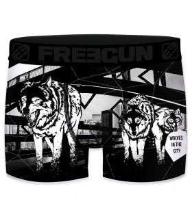 Boxer homme Freegun Wolf Noir