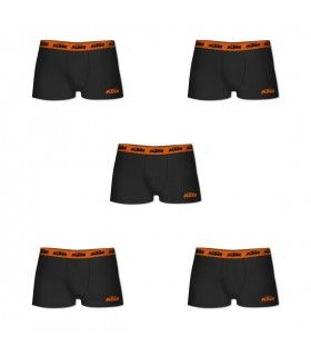 Pack of 5 men's cotton KTM Black Boxers