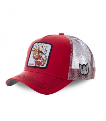 Saint Seiya Pegasus Red Cap with mesh