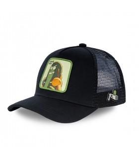 Men's Capslab Rick and Morty Pickle Rick Black Cap