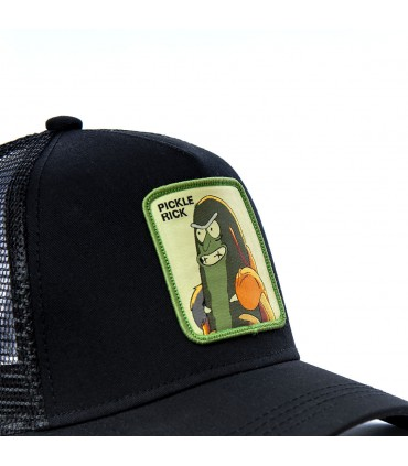 Rick and Morty Pickle Rick Black Cap with mesh