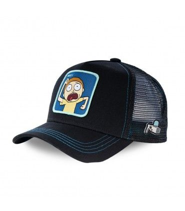 Rick and Morty Scared Morty Black cap with mesh