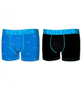 Lot de 2 boxers homme Soft Touch Freegun Bleu