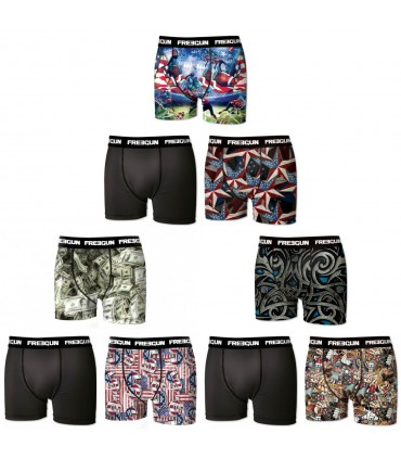 Lot de 9 Boxers Garçon Freegun G1