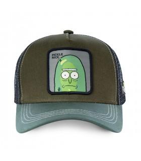 Casquette Capslab Rick et Morty Pickle Rick Kaki vue de face