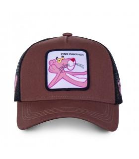 Casquette Capslab Pink panther Marron vue de face