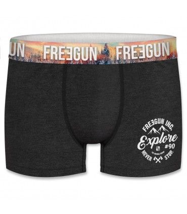 Lot de 4 boxers homme coton Freegun Wint Explore Multicolore