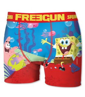 Men's Spongebob Love Blue and Red Boxer