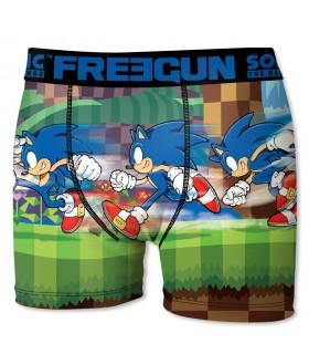 Boxer Garçon Freegun Sonic Start Bleu