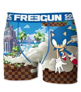 Boxer Garçon Freegun Sonic Run bleu
