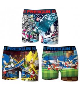 Pack of 3 men's Sonic Boxers E2