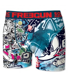 Boxers homme microfibre Packx3 Freegun Sonic E2