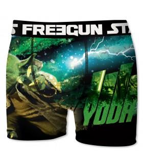 Boxer Garçon Freegun Starwars Yoda Vert