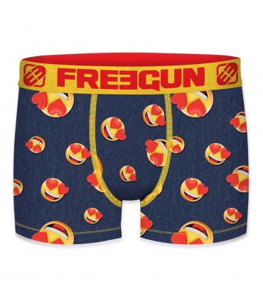 Men's Emotik Lover Yellow and Red Boxer