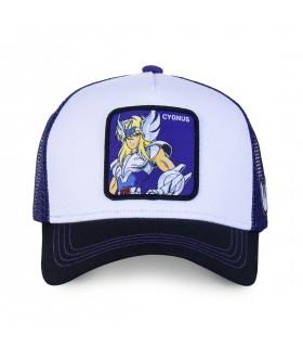 Saint Seiya Cygnus White and Purple Cap
