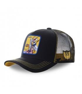 Men's Capslab Saint Seiya Phoenix Black and Yellow Cap