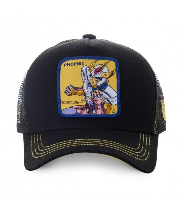 Saint Seiya Phoenix Black and Yellow Cap