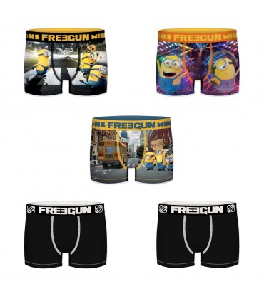 Pack of 5 men's Despicable me Boxers