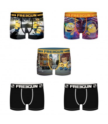 Pack of 5 boy's Despicable Me Boxers