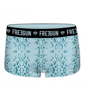 Shorty Freegun fille imprimé Piton Bleu