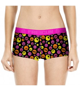 Girl's Black Emotik Underwear Short