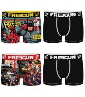 Lot de 4 boxers homme dc comics freegun