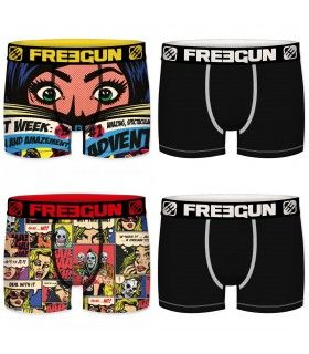 Lot de 4 Boxers Freegun homme READ