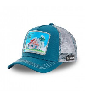Dragon Ball Kame House Blue Cap with mesh