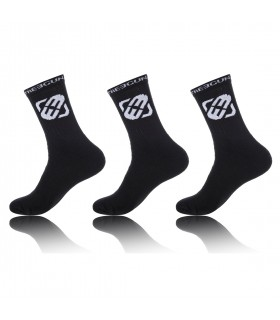 Pack of 3 men's Black Tennis Socks