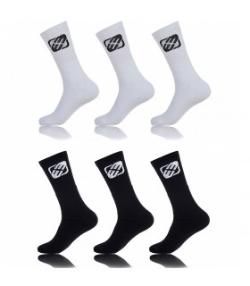 Pack of 6 boy's Black and White Tennis Socks