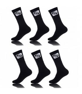 Lot de 6 paires de chaussettes tennis Freegun garçon Noir