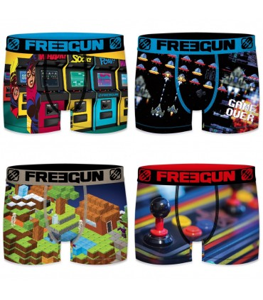 Lot de 4 boxers homme Retro Gaming G7