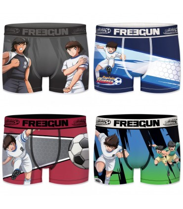 Pack of 4 boy's Captain Tsubasa Boxers