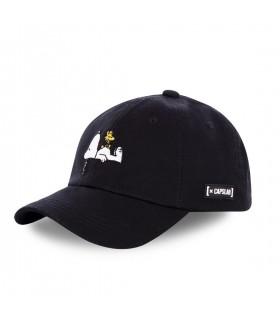 Men's Capslab Peanuts Dog Black Cap