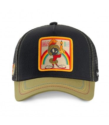 Casquette Capslab Looney Tunes Marvin the Martian Noir vue de face