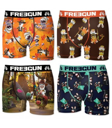 Pack of 4 Raving Rabbids Men's Boxers