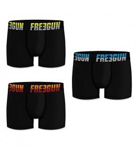 Lot de 3 Boxers Freegun coton homme uni