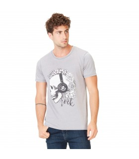 Men's Forever Rock Grey Tee Shirt