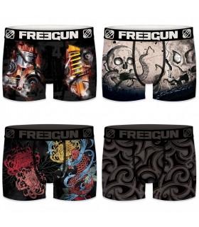 Lot de 4 boxers garçon tattoo freegun