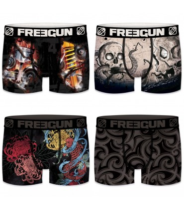 Pack of 4 boy's Tatto Boxers