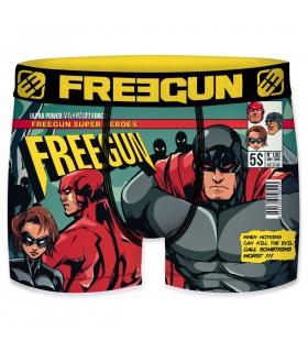 Boxer garçon comic freegun multicolore
