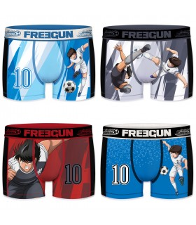 Lot de 4 boxers homme aktiv captain tsubsasa freegun