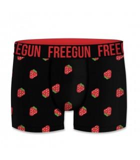 Boxer homme coton bio motifs fraises freegun
