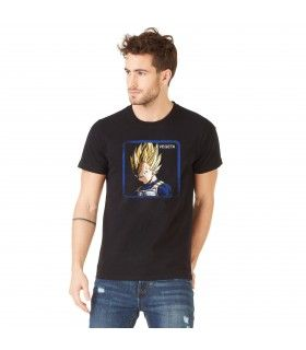 Men's Capslab cotton Tee Shirt Dragon Ball Z Vegeta Saiyan Black