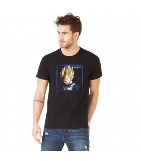 Men's Capslab cotton Tee Shirt Dragon Ball Z Vegeta Saiyan Black