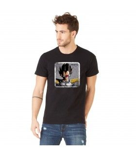 Men's Dragon Ball Z Vegeta Black cotton Tee Shirt
