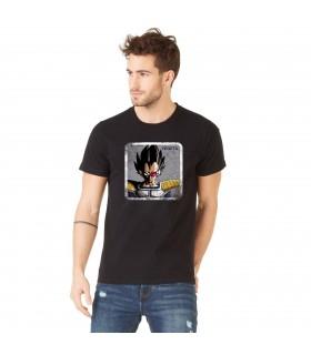 Men's Dragon Ball Z Vegeta Black cotton Tee Shirt